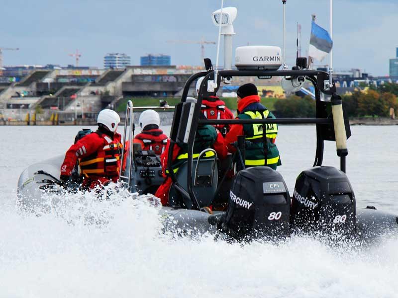 Rib båt i Oslo fjorden
