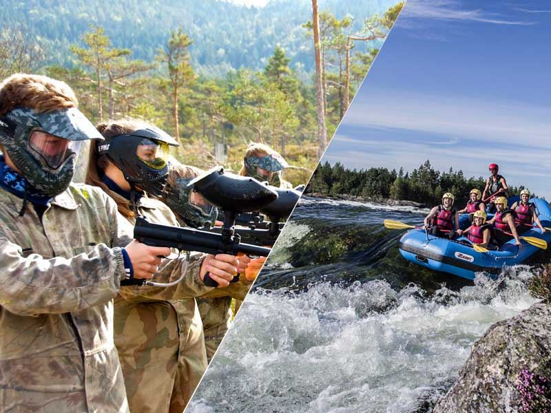 Rafting og paintball